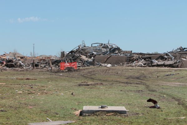 Tornado destruction at Briarwood School in Moore Oklahoma